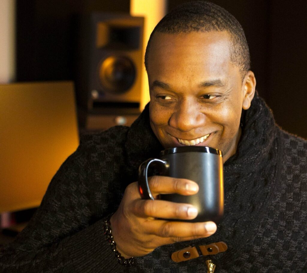 Jermain Stegall with Coffee